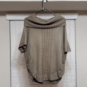 The Limited Cowl Neck Arm Green Sweater M